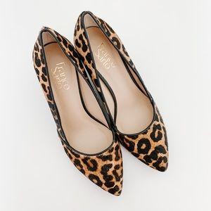 Franco Sarto Leopard Wedges